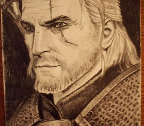 The Witcher pencil portrait