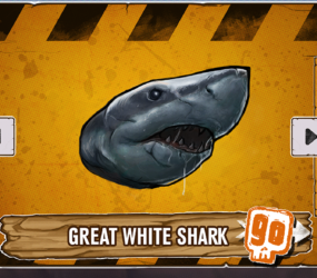 In game art mock up Shark Head