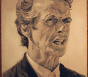 Peter Capaldi pencil portrait