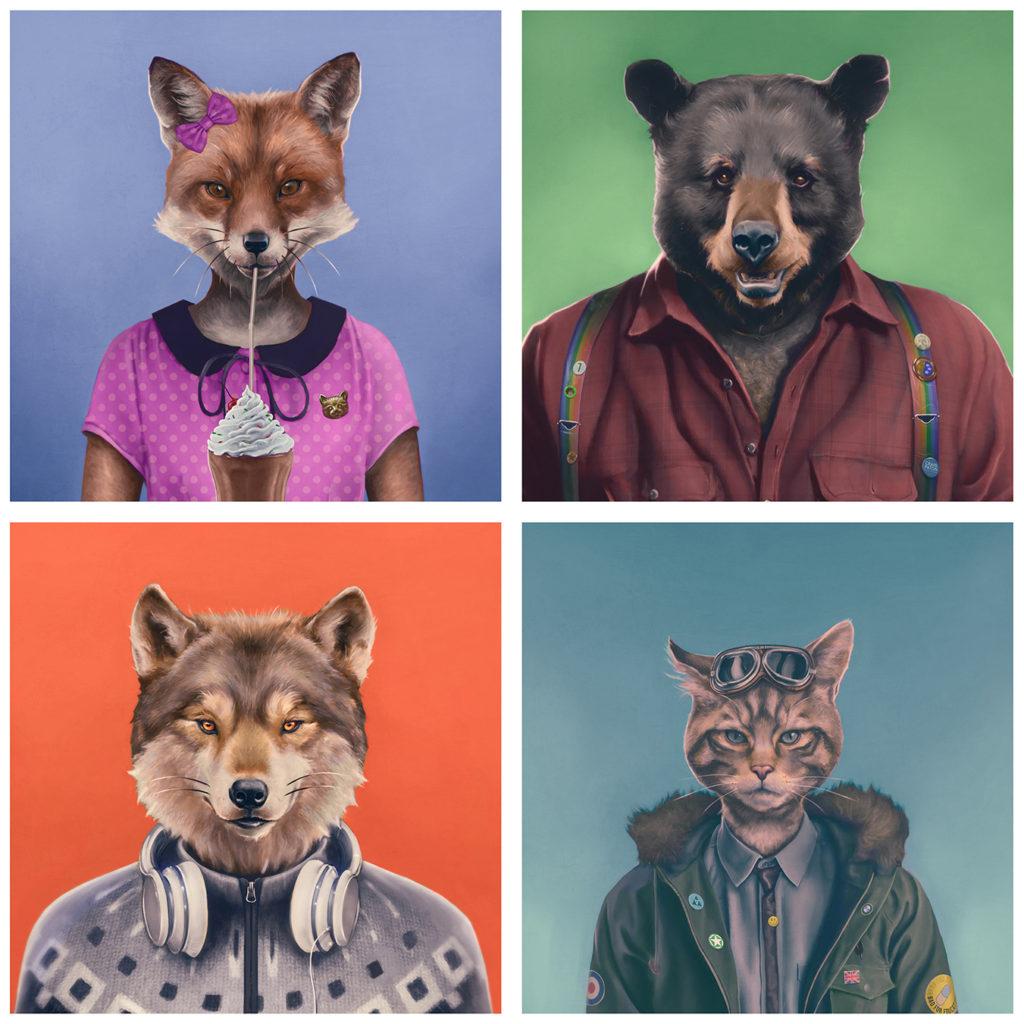 Four Woods animals