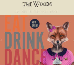 The Woods website (built by EatDrinkFilm Ltd)