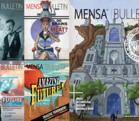 Selection of Mensa Bulletin covers
