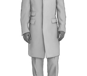 Holland and Sherry Mannequin Overcoat.
