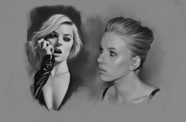 Margot Robbie & Scarlett Johansson