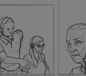 Early Work in Progress drawing