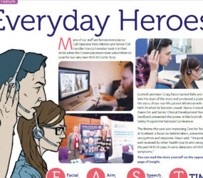 NHS Insight magazine feature. Everyday Heroes.