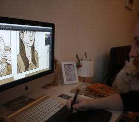 Working under Henri's supervision.