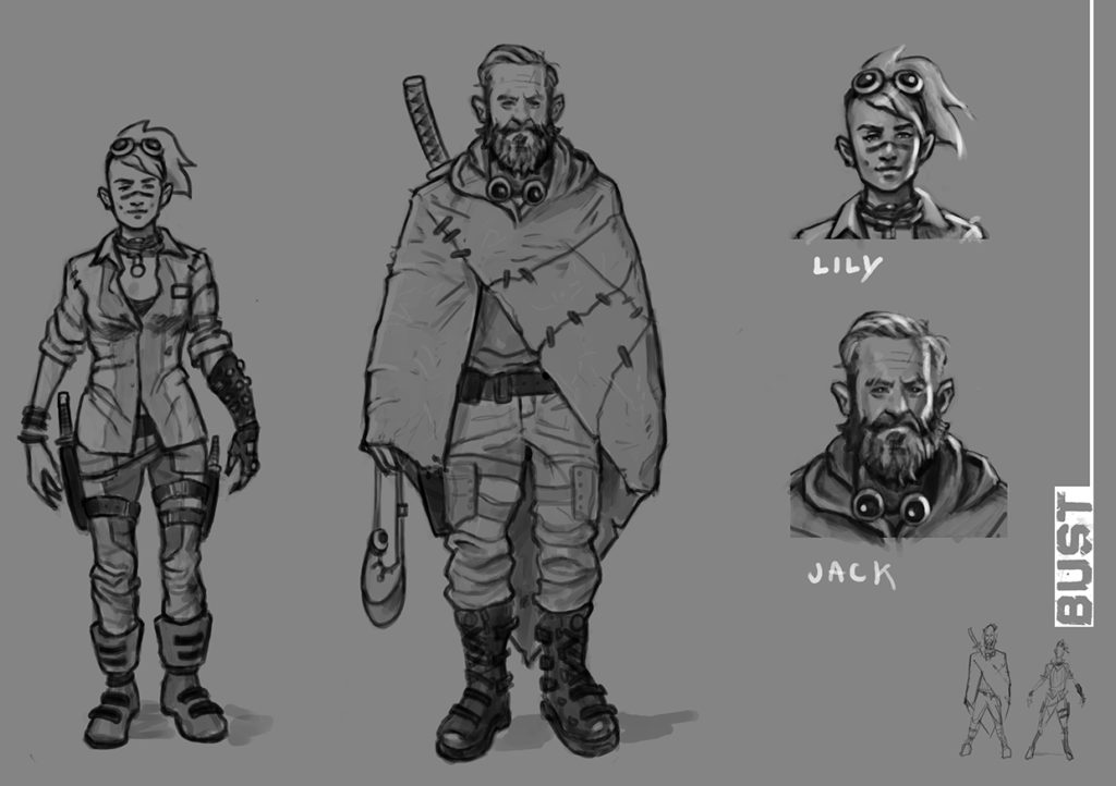 Bust 2 Character Sketches