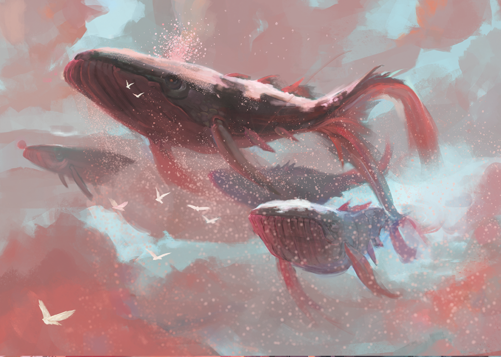Skywhales Michael Doig